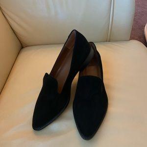 NWOB Aquatalia Golda Black Suede Loafers size 6.5